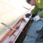 copper gutter