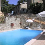 pool in a secluded umbrian borgo