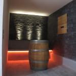 tasting area - coloured led lights